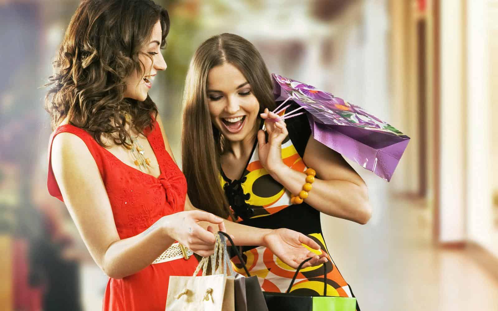 шопинг с подругой