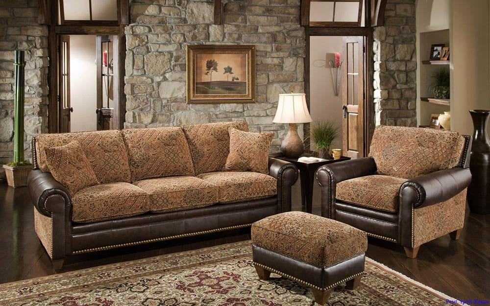 диван и кресло с пуфиком фото