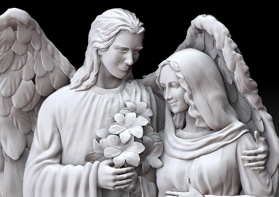 Архангел Гавриил и Дева Мария