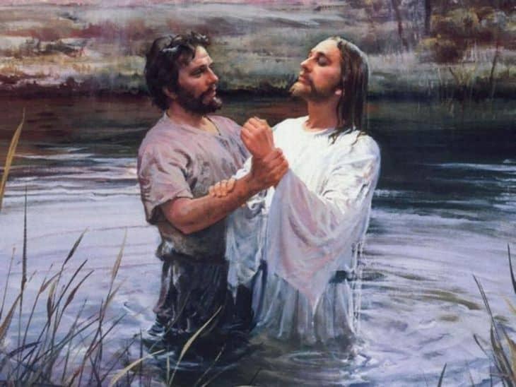 Иоанн крестит Иисуса