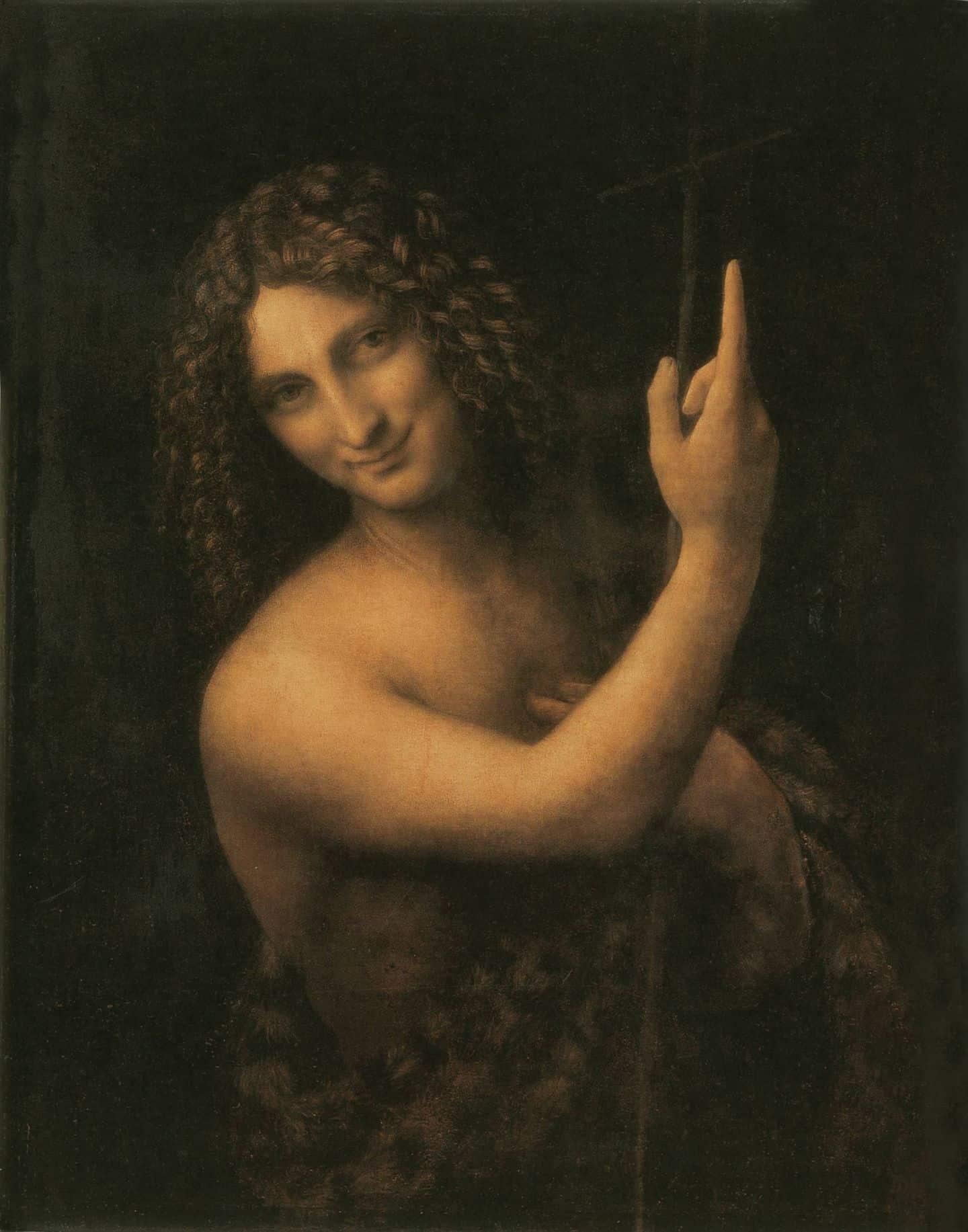 Иоанн Креститель картина Леонардо да Винчи