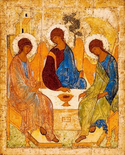 Троица ветхозаветная (икона Андрея Рублева)