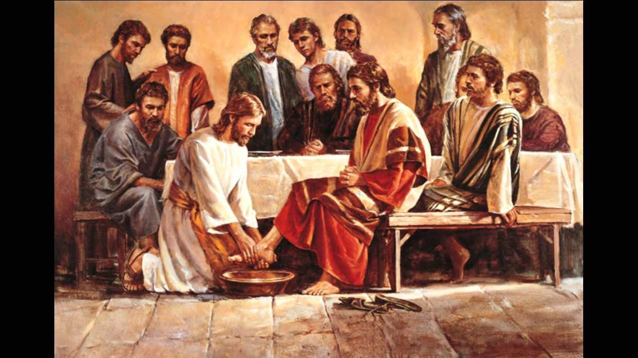 Иисус омывает ноги апостолам