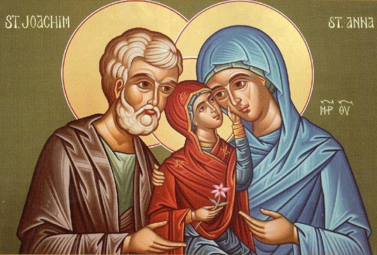 Богородица с родителями - Анной и Иоакимом