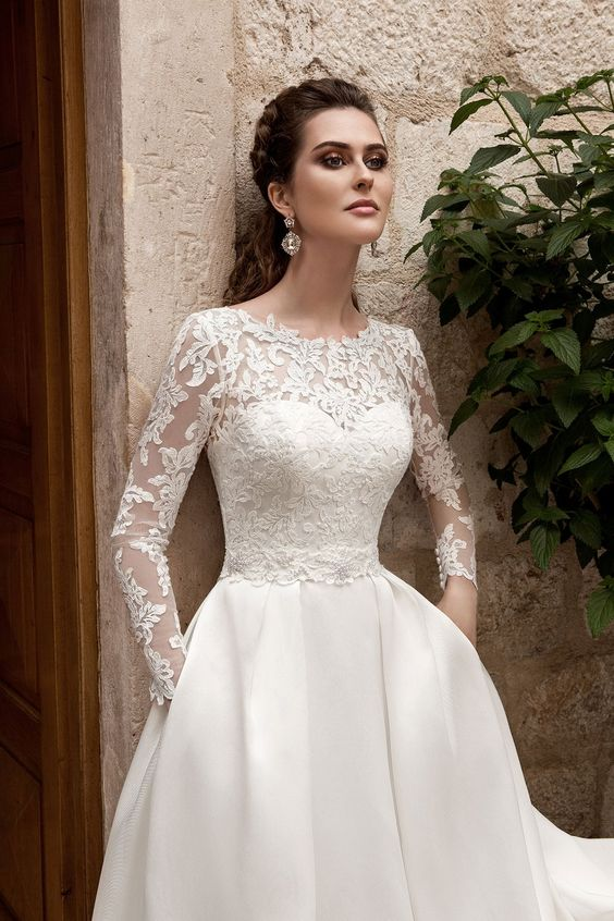 платье для венчания должно быть закрытым