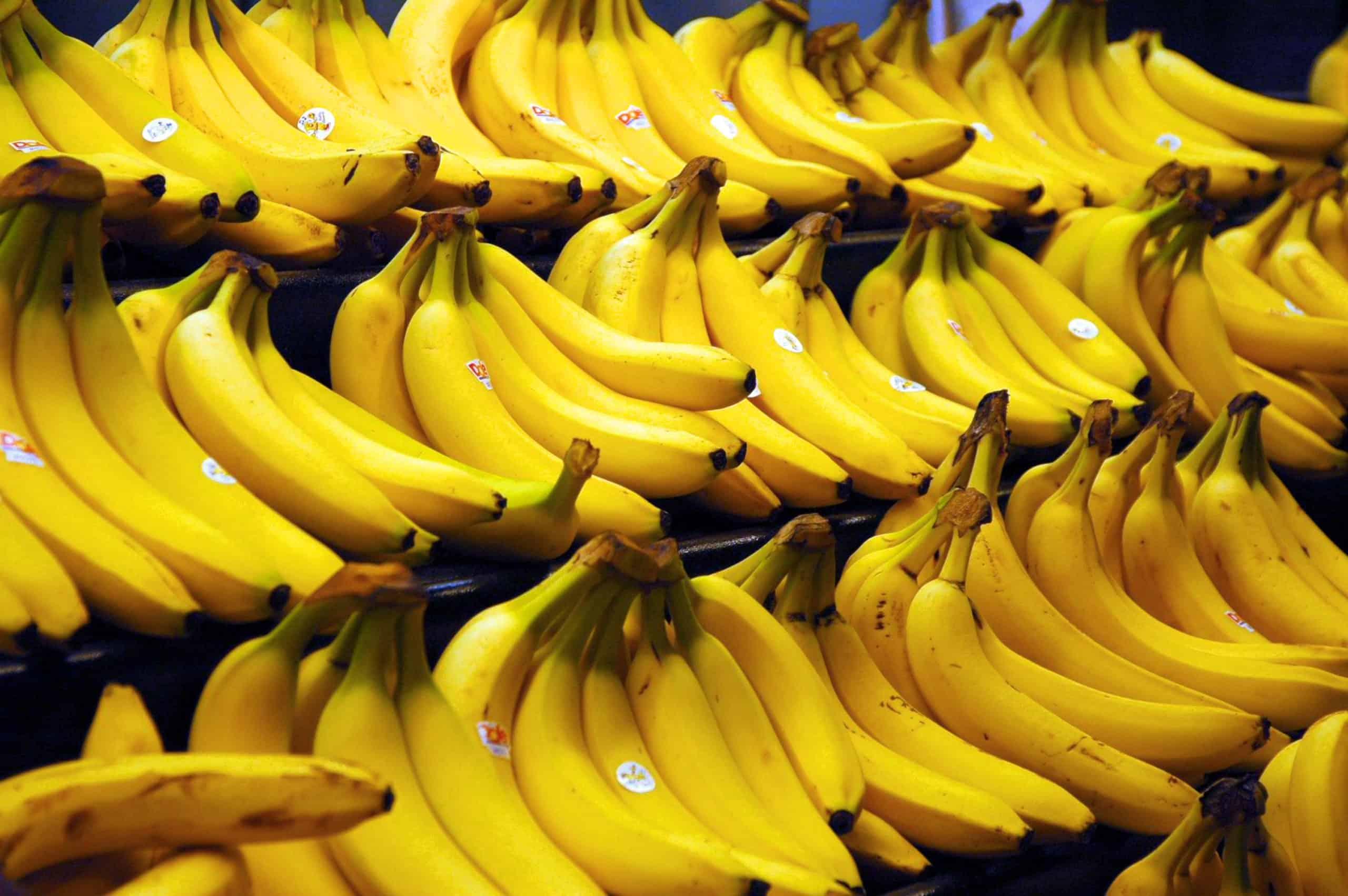 прилавок с бананами