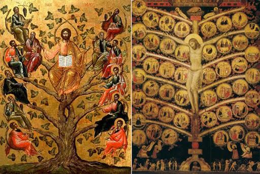"""икона """"Иисус и 12 апостолов"""""""